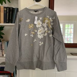 J. Crew embroidered sweater